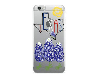 Texas Pride iPhone Case - Texas - State - Bluebonnets - Yellow Rose