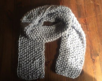 Light Blue Hand Knitted Scarf