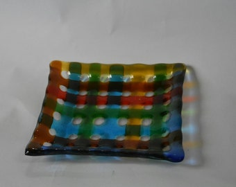 Fusing dish glass handmade Handmade Silvina Designs