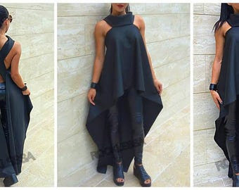 New Extravagant tunic, asymmetrical top WOMAN by Rocklessa,X-back,efekt back /High Quality/