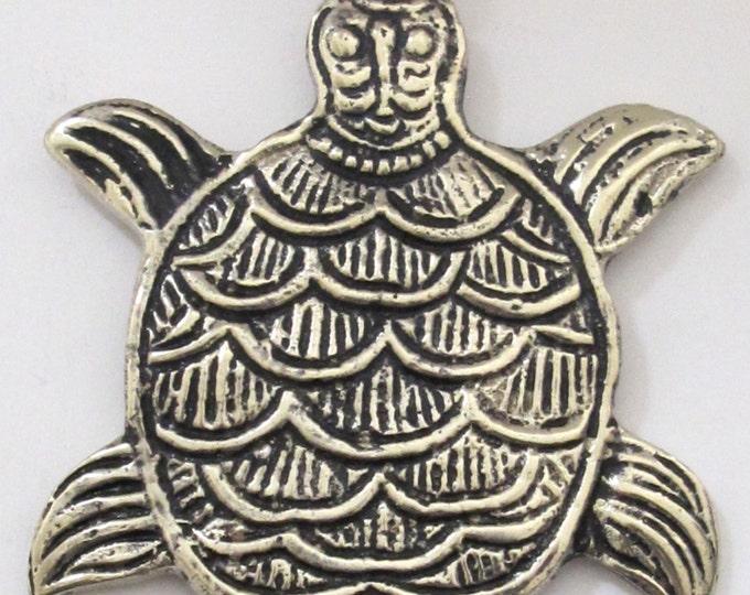 Gorgeous Large size Tibetan silver plated Turtle pendant - PM190