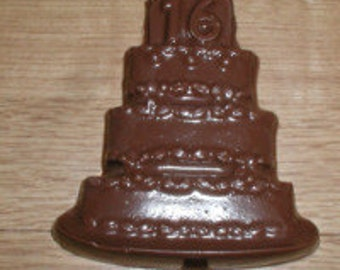 16 Birthday Cake Lolly Chocolate Mold