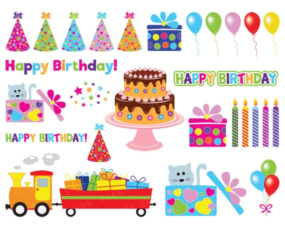 Birthday Clip Art Birthday Clipart Party Clipart