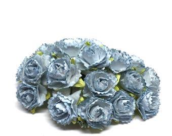 small cornflower blue carnations pc024