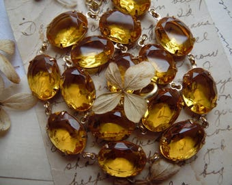 Citrine statement necklace, Anna Wintour necklace, georgian collet, georgian jewelry, Marie Antionette, September Issue.