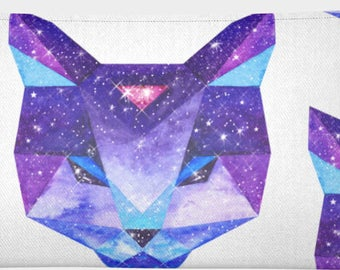 Small pencil case-pouches SPACE CAT