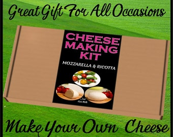 Cheese Making KIT Mozzarella and Ricotta Great Gift Present Contains Vegetarian Rennet