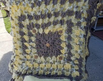 This blanket is crocheted with love for the little love of your life!