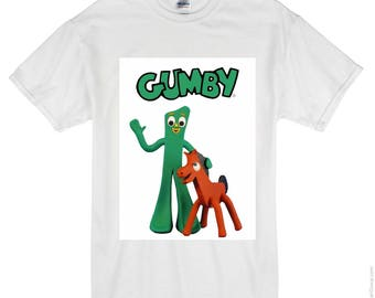 Gumby and pokey vintage style tshirt