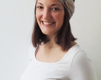 Headband ELISE in Pearl Grey | Knit Earwarmer