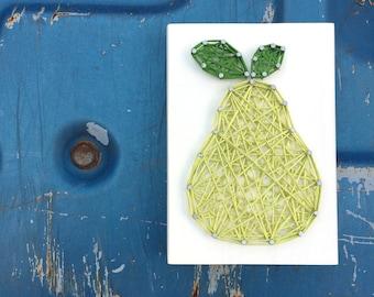 READY TO SHIP String Art Mini Pear Sign