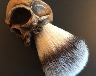 Bonehead Shaving Brush (dark)