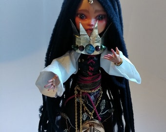 What Shall You Give -- 12 in. Mixed Media Recycled Art Doll OOAK