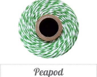 240 Yards (Full Spool) of Bakers Twine . Peapod Green