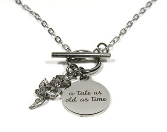 Beauty and the Beast - Disney - Charm Necklace - A Tale As Old As Time