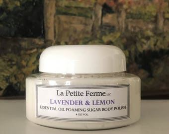 Lavender & Lemon essential oil foaming sugar scrub
