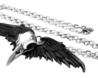 Ghost Raven Necklace
