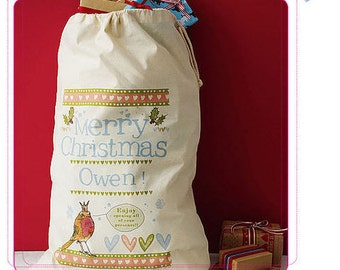 Personalised Christmas gift sack