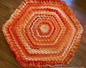Crocodile Stitch Hexagonal Baby Blanket