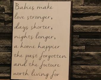 Babies make love stronger