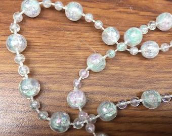 ON SALE Garland Iridescent Graduated Pearls 9 Feet Long Vintage