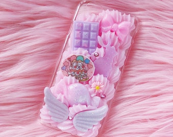 Little Twin Stars  iphone 6 case, kawaii decoden, Easter iphone case, decoden whip case, kawaii decoden case, iphone 6 decoden