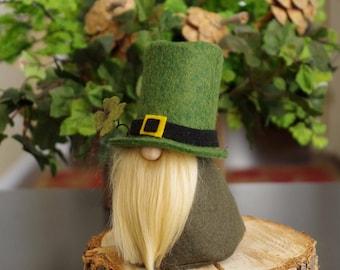 LEPRECHAUN Gnome, St Patrick's Day, Green Felt Gnomes, Fairy Gnome, Ireland, Scandinavian Gnomes, Irish Gnome, Gifts, Ireland, Gnome Gifts