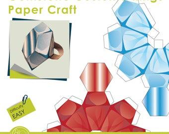 Print and Make Paper Craft - Costume gemstone rings