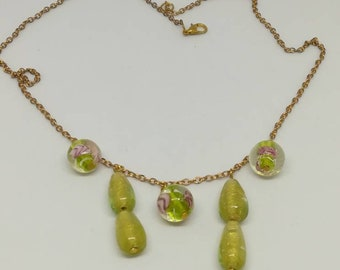 Necklace murano glass beads