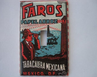 Single Switch Plate Cover, Faros Mexican Cigarettes