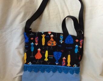 Black crossbody fashion bag