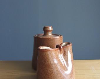 Handmade pottery creamer and sugar set, milk and sugar pottery, handmade ceramics