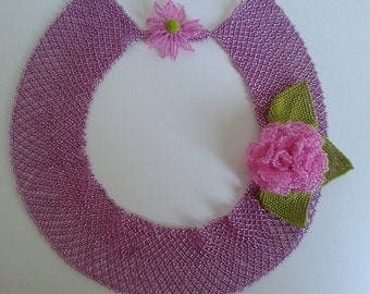 Beaded Necklace Rose