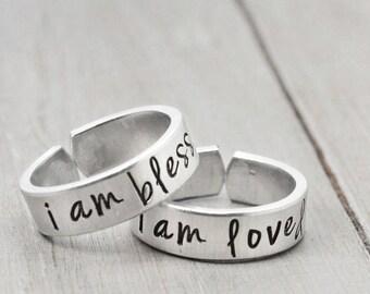 Mother Daughter rings, Daughter Mother Rings, Jewelry for Mothers, Mother and Daughter Rings,  Mom Daughter Jewelry, Personalized Jewelry