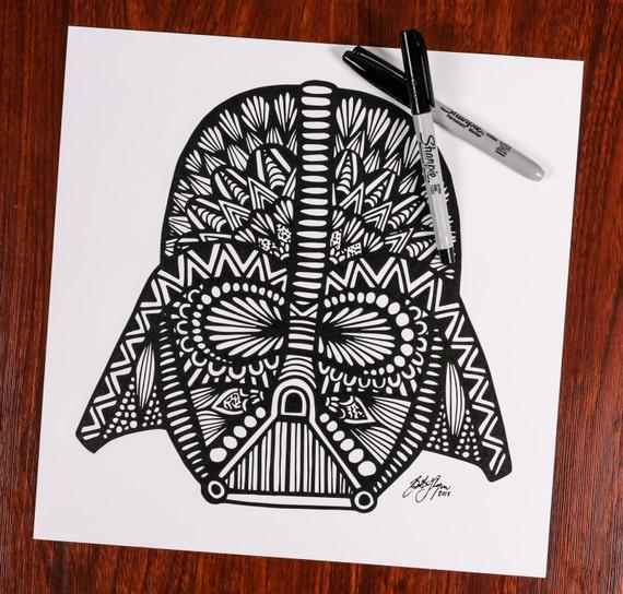 Zentangle - Darth Vader