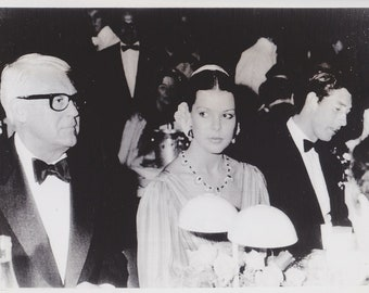 1977 Vintage Press Photograph Cary Grant, Princess Caroline, Prince Charles - Monaco