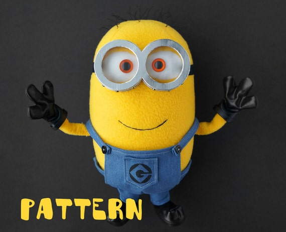 Minion sewing toy pattern DIY soft toy pattern