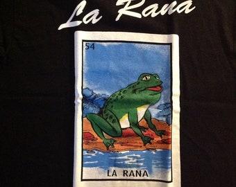 Mexican Loteria  La Rana The Toad shirt Lottery