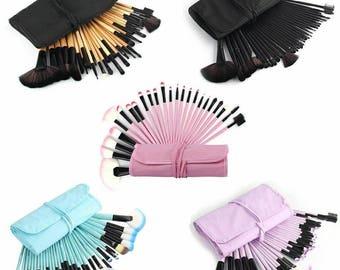 Makeup Brushes Set 32Pcs Powder Blusher Foundation Brush Beauty Brushes pincel maquiagem Cosmetic Bag 5 Colors Make up Brushes