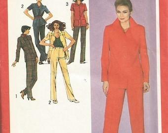 Vintage Simplicity 9479 Pants and Shirt Pattern SZ 16 1/2.