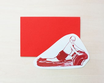 SALE George Costanza - Seinfeld - Greeting Card, Blank Card, Holiday Card, Blank Greeting Card, Handmade Card, Shape Card