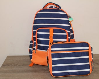 Personalized Backpack and lunch box set