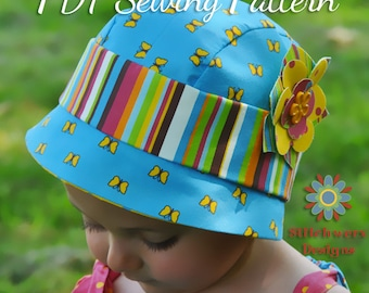 Cloche Hat, PDF Sewing Pattern, Baby, Toddler, Child, Flapper Hat Pattern, Vintage Hat Pattern, Cloche Hat Pattern, Baby Hat Sewing Pattern