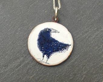 curious crow  pendant