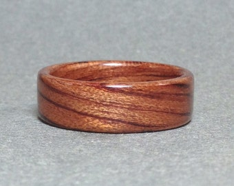 Bubinga Bentwood Ring, Wood Ring for Men, Women's Wood Ring
