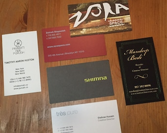 Custom Business Card Design Services - Limitless Options!