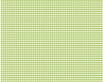 Green Small Gingham Fabric by Riley Blake Designs - By the Yard - 1 Yard - C440-30