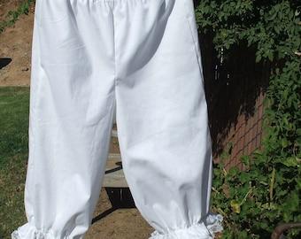 Girls Bloomers Pantaloons Lace Trim Custom made