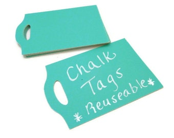 Chalk Tags - Chalkboard Tags - 20 Count -  Turquoise Tag - Custom Tag - Wedding Favor Tag - Baby Shower Tags - Hang Tag -  2.75 x 1.8 in