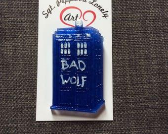 Bad Wolf TARDIS brooch